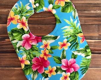 Hawaiian Hula Baby Bib great Shower or Birthday Gift