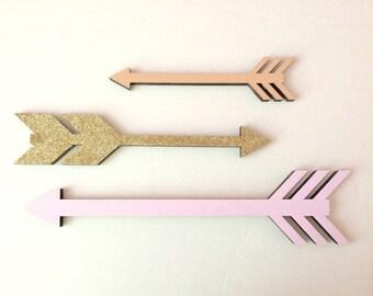 Set of arrows nursery decor wooden arrows arrow decor tribal nursery painted arrows