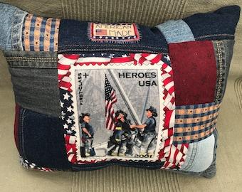 Patriotic- 9-11 Tribute Pillow - USA Pillow