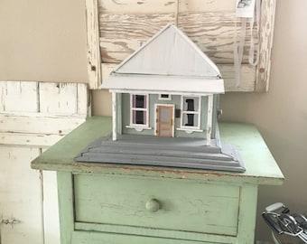 Vintage Handmade Wood Cardboard House