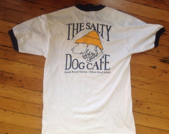 1989 The Salty Dog Cafe Hilton Head ringer t shirt USA medium