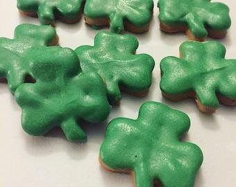 Mini Shamrock Dog Treats - Peanut Butter Treats for Dogs - Saint Patricks Day Treats for Dogs - St Patricks Day - Irish - Green - 12 Treats