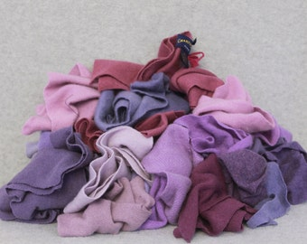 Recycled Cashmere Remnants - Lavender 16oz