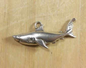 Sterling Silver Shark Pendant