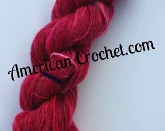 Rassberry Handmade yarn / 239 yards / 1 ply / 3 oz