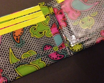 Neon Paisley Duct Tape Wallet