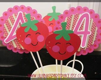 Strawberry Stripes Centerpieces