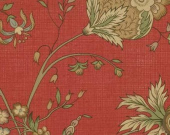 French General Favorites, 13547 12, Large Floral Print in Red, Moda Fabrics