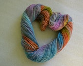Sock yarn hand dyed merino nylon fingering yarn 4 ply variegated flecked speckled yarn superwash