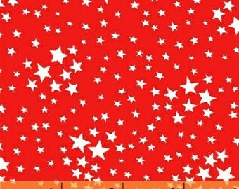 Fabric by the Yard-StoryBook Americana- Stars in Red-- from Windham