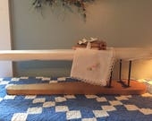 Antique sleeve ironing board so cute! Also a bundle of old clothespins and antique hankie! Adorable lot !