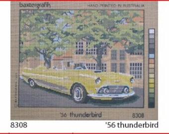 Imported Needlepoint Canvas: 1956 T-Bird Thunderbird