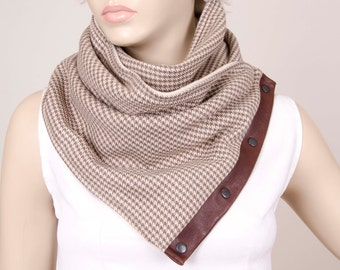 mens scarf scarf with snaps winter scarf neckwarmer scarfmens neckwarmer,