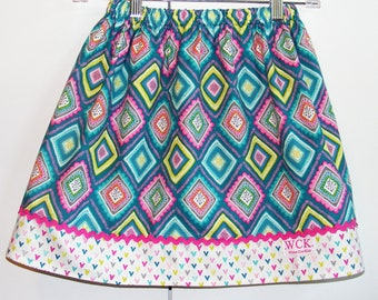 Bold and Bright Spring  Skirt (18 mos, 24 mos, 2T, 3T, 4T, 5, 6, 7, 8, 10)
