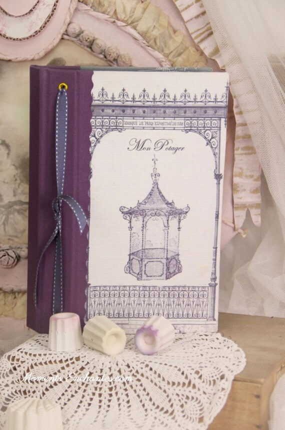 "Saint Valentin Garden book  pavillion called ""la gloriette"".    linen garden  organizer"