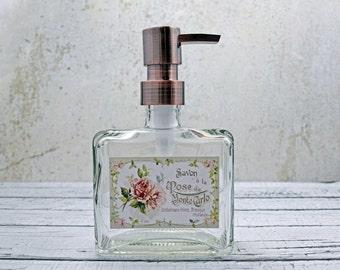 Soap Dispenser | Cottage Bathroom Decor | Hand Soap Dispensers | Copper  Bathroom Accessories