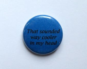 Socially Awkward Pin - Teenager Gift - Introvert Problems Badge - Statement Accessory - Self-Expression Pinback Button