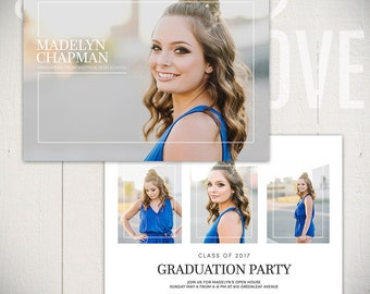 Graduation Announcement Template: Brillance Card A - 5x7 Senior Card Template