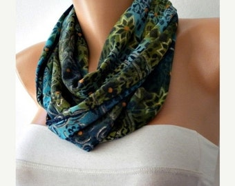 ON SALE --- Infinity Scarf Fall Accessories,Bohemian Scarf,  Circle Scarf Loop Scarf  Gift  Ideas For Her Women Fashion Accessories Christma