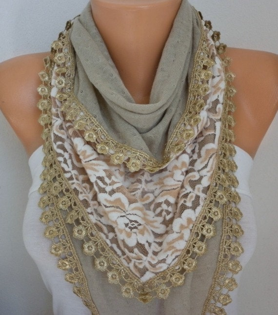 Beige Knitted Scarf,Shawl, Winter Scarf,Cowl Bridesmaid Bridal Accessories Gift Ideas For Her Women Fashion Accessories
