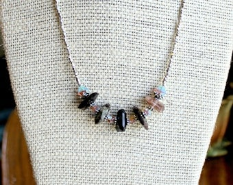 Scapolite Pure Silver Necklace Set, Karen Hill Tribe Silver, Fine Silver Jewerly, Handcrafted, Handmade, Artisan, Unique, Gemstone, Gift