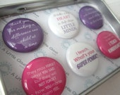 Custom Magnet Teacher Gift Set in Pink and Purple, female, end of year, custom, quotes, it takes a big heart