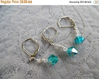 """SALE - Removable Stitchmarkers, set of 3 Clip-style, """"aqua"""",  up to 6.5 mm needles"""
