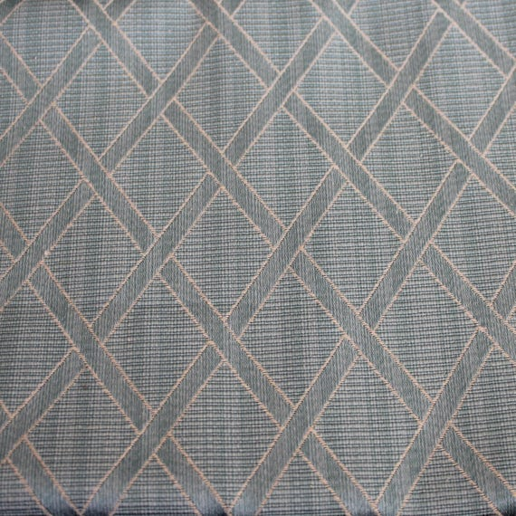 "Diamond Upholstery Fabric,Home Decor Fabric,Vintage Reproduction Fabric,Sea Foam Green,Jacquard Diamond Fabric,END OF BOLT 1 Yard by 60"" W"