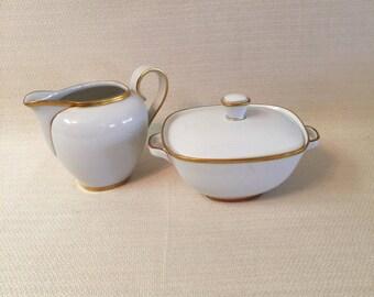 Krautheim K&A Elegance Creamer and Covered Sugar Bowl 1964-75 Selb Bavaria Germany