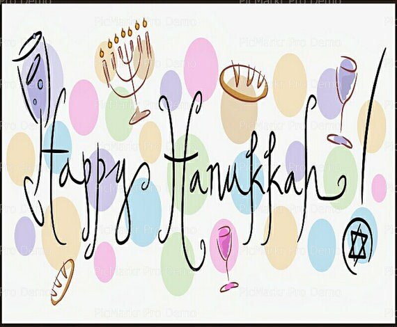 Hanukah Chanukah  Cake Cupcake Edible Sheet Image Birthday Wedding Baby Shower Party Toppers Personalized Favors Many Sizes