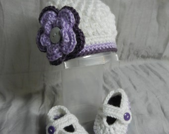Ready to SHIP/Flower Hat and Mary Janes