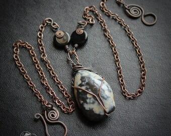 Sea Glass Pendant. Yorkshire Bluestone Necklace. Sea Slag Necklace. The Ur and Vagn.