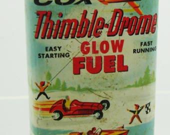 Cox Thimble-Drome Glow Fuel Tin (empty)