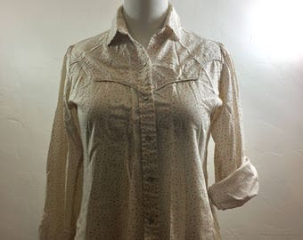 Vintage Shirt, Vintage Snap Shirt, Cowgirl Shirt, Western Vintage, Western Shirt, Western Clothing, Vintage Clothing, Floral Shirt, Western