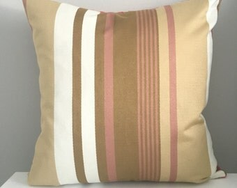 Decorative Pillow Cover In Striped, Throw Pillow, Available In Different Sizes