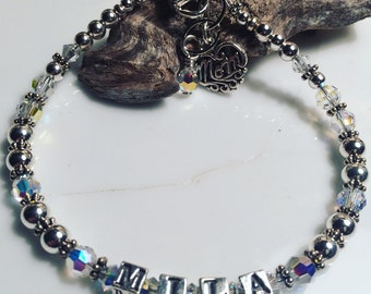 Custom Sterling Mothers Bracelet