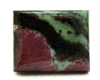 Ruby Zoisite Cabochon Stone (23mm x 18mm x 6mm) 41cts - Rectangle Cabochon