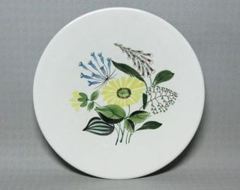 Royal Copenhagen Aluminia hand decorated plate signed by the artist U.P. ( Ulla Procope ? )