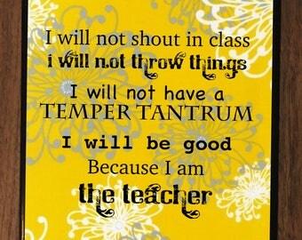 Teacher Appreciation Ceramic Tile Coaster (Funny)