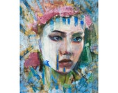 Head_WR_112816, figure painting, original painting ,11 x 14, oil on canvas