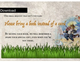 Please bring a book instead of a card- Baby Shower Download