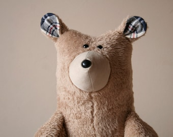 Big Honey Bear, Soft Brown Plush Big Bear, Teddy Bear, Cuddly Plush