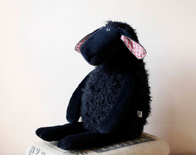 Big Stuffed All Black Sheep, double size soft sheep