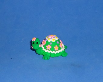 Polymer Clay Spring Turtle