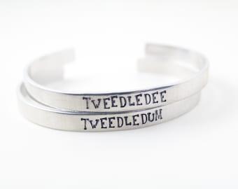 Tweedledee & Tweedledum BFF Cuff set