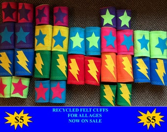 HERO CUFFS Armbands ONLY Accessories for Superhero Capes Birthday Party Favors ad Gifts