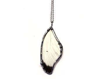 Great Southern White Preserved Butterfly Wing Necklace