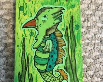 Sea Horse Creature Illustration