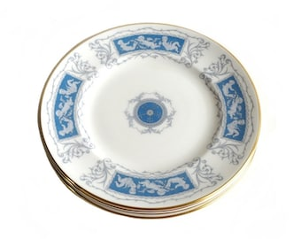 Coalport Revelry Blue Bread Butter Plates Bone China Cupid Valentine