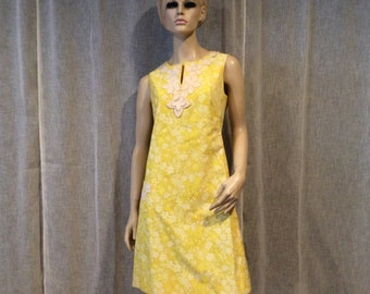 Vintage Lilly Pulitzer Yellow Flowere Dress, Vintage Clothing, Vintage  Sixties Designer Dress, Vintage 1960's Mod Dress